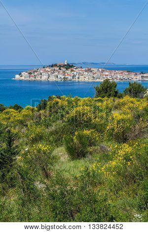 Primosten Croatia - May 16 2016: the islet of Primosten