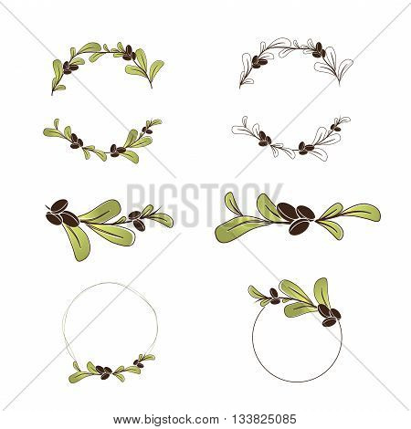 Olive or Argan Oil Logo Design Collection copyspace