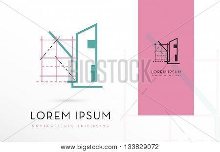 PREMIUM, ARCHITECTURE, VECTOR ICON / LOGO DESIGN IN COLOR VARIATIONS