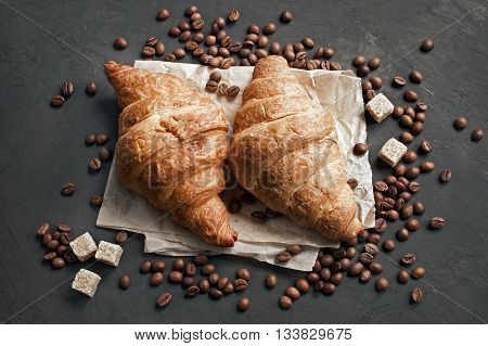 Two Fresh Baked Croissants