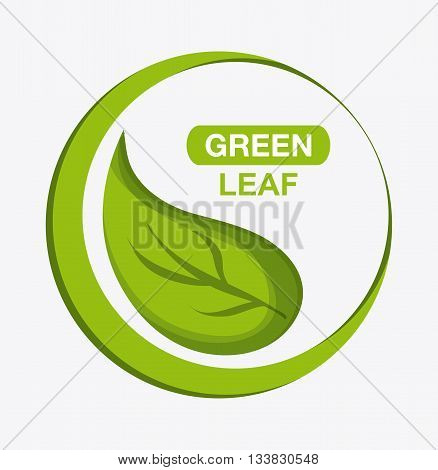 green concept with icon design, vector illustration 10 eps graphic.