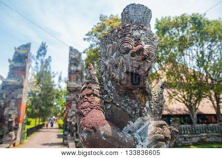 Giant Balinese Statue at Pura Taman Ayun