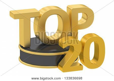 Top 20 3D rendering isolated on white background