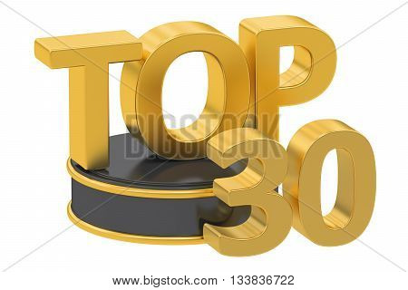 Top 30 3D rendering isolated on white background