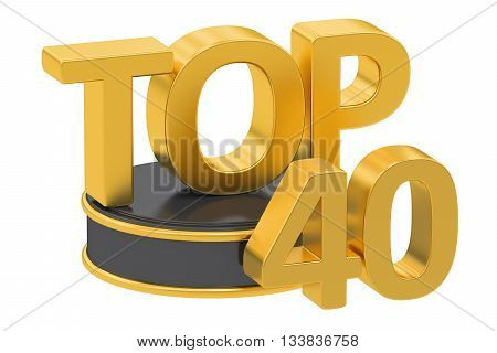 Top 40 3D rendering isolated on white background