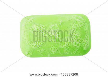 bathroom equipment soap isolated on white background