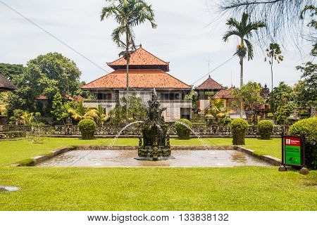 Fountain at Pura Taman Ayun Temple, Bali, Indonesia
