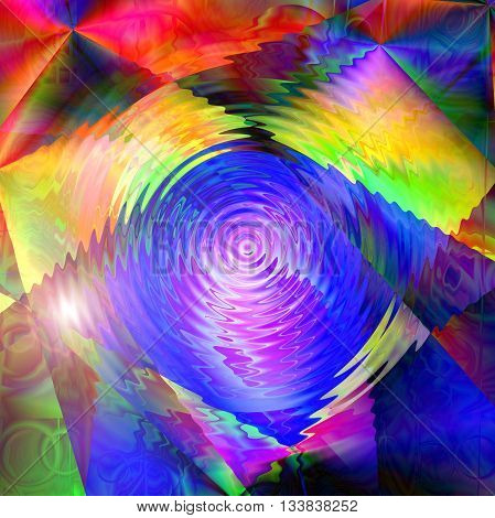 Save Download Preview Abstract coloring skyline gradients background with visual lens flare and zigzag effects