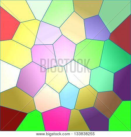 Save Download Preview Abstract coloring  gradients background with visual lens flare and stained glass effects