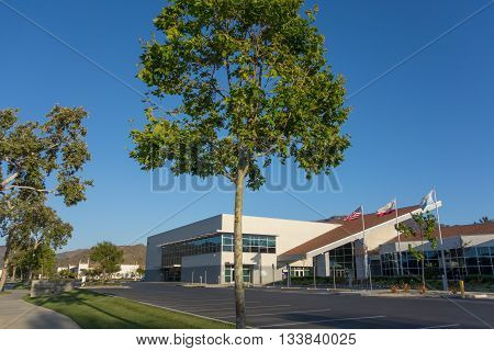 CAMARILLO CA - JUNE 3 2014: Ventura County Office of Education Conference & Educational Services Center on Adolfo Street in city of Camarillo California