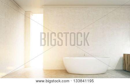 Illuminated Concrete Bathroom