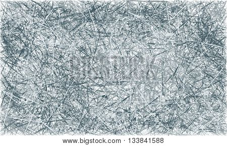Vector Grey And Blue Abstract Scratched Grunge Background