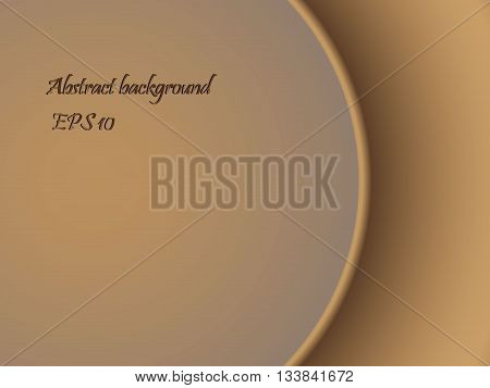 Abstract background in brown tones with a separation gradient line, vector illustration