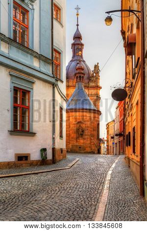 Architecture in the old town of Olomouc, Czech Republic.