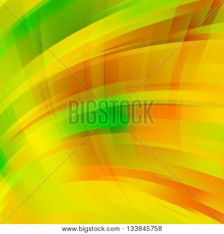 Abstract Yellow Background With Smooth Lines. Color Waves, Pattern, Art, Technology Wallpaper, Techn
