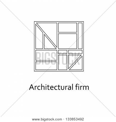 Architectural Firm logo Template. Construction company, building construction, engineering design.