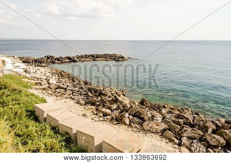 Scenic View Of Gallipoli Waterfront, Salento, Italy