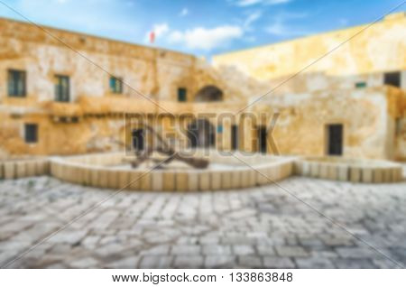 Defocused Background With View Of The Castle In Gallipoli, Italy