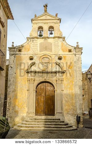 Ancient Church In Old Town Of A Southern Italy Village
