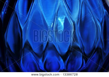 Cobalt Patterened Glass