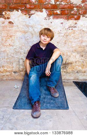 Portrait Of A Cute Young Boy