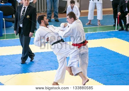Boys Compete In Karate