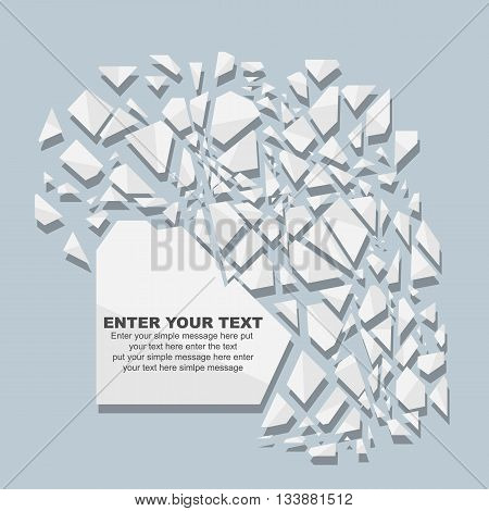 CRUSHED ELEMENTE TEMPLATE MESSAGE STICKER FIFTH EDITION WHITE