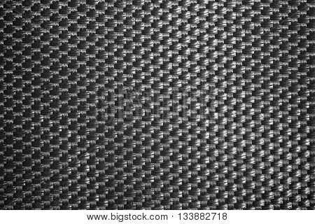 Details of fabric woven nylon black background.