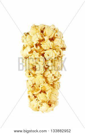 Roasted sweet corn isolated on white background.