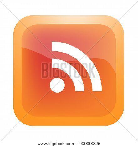 RSS button, communication concept - EPS 10 vector