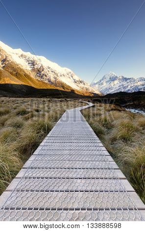 Beautiful and serene morning in Mt Cook National Park.