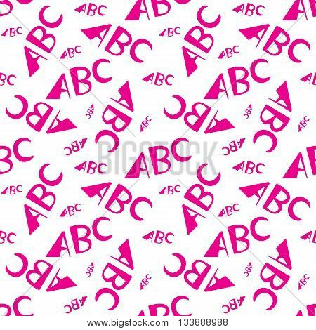 Abc Letters Seamless Pattern. Creative Design In Office Style