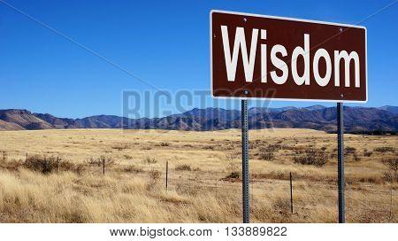 Wisdom Road Sign
