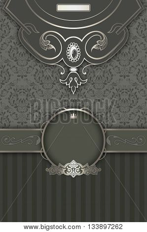 Luxury background with elegant vintage patterns and decorative border. Vintage invitation card or cover-book design.