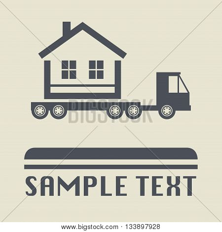 Abstract Home transportation icon or sign, vector illustration