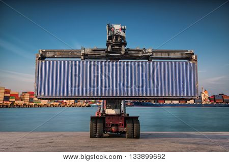 Forklift Handling Container Box Loading