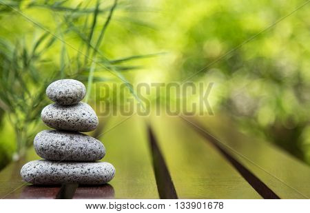 Spa still life with bamboo tree background