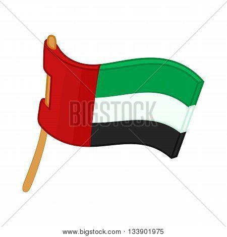 United Arab Emirates flag icon in cartoon style on a white background