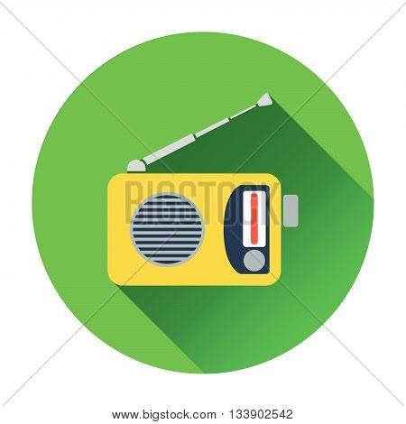 Radio icon. Flat design in UI colors. Vector illustration.