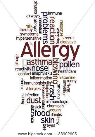Allergy, Word Cloud Concept 5