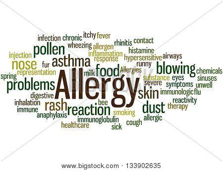 Allergy, Word Cloud Concept 6