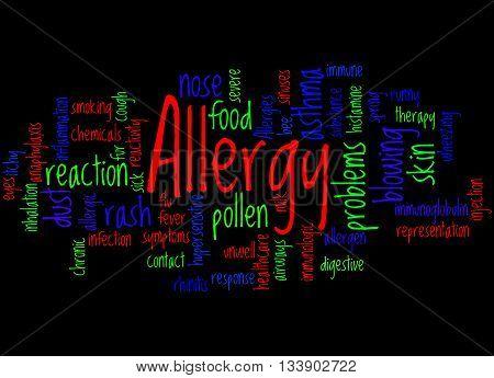 Allergy, Word Cloud Concept 8