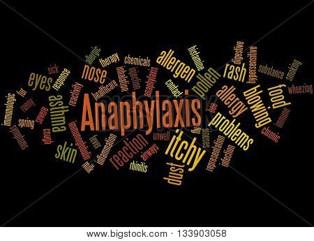 Anaphylaxis, Word Cloud Concept 9