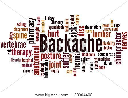 Backache, Word Cloud Concept 8
