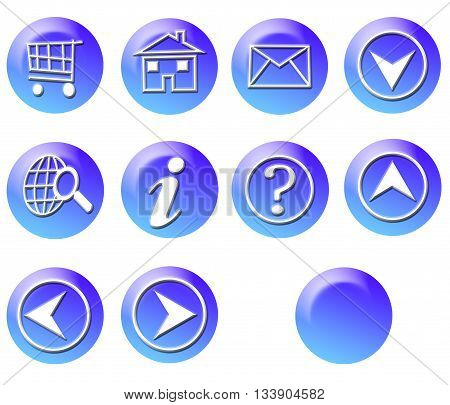 Blue Circle Simple Gradient Website Icon Series