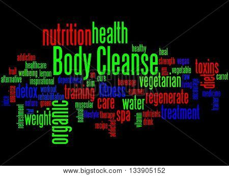 Body Cleanse, Word Cloud Concept 3