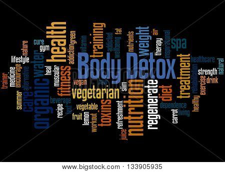 Body Detox, Word Cloud Concept 5