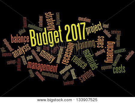 Budget 2017, Word Cloud Concept