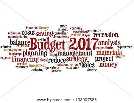 Budget 2017, Word Cloud Concept 2