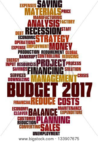 Budget 2017, Word Cloud Concept 3